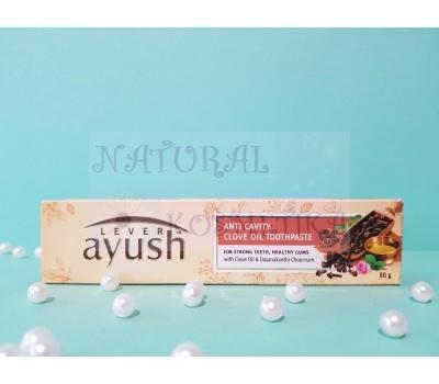 Зубная паста аюрведическая Lever ayush Anti Cavity Clove Oil 80 г