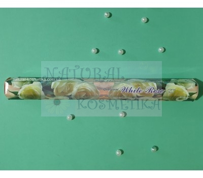 Угольные аромапалочки Белая роза /  White Rose incense sticks / 20 шт