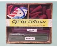 Подарочный арома-набор: конусы, палочки, подставка