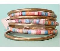 Набор браслетов пастельных цветов с золотистыми